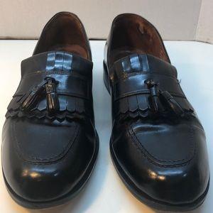 Bostonian Black Leather Loafers w/ Tassels Size 12